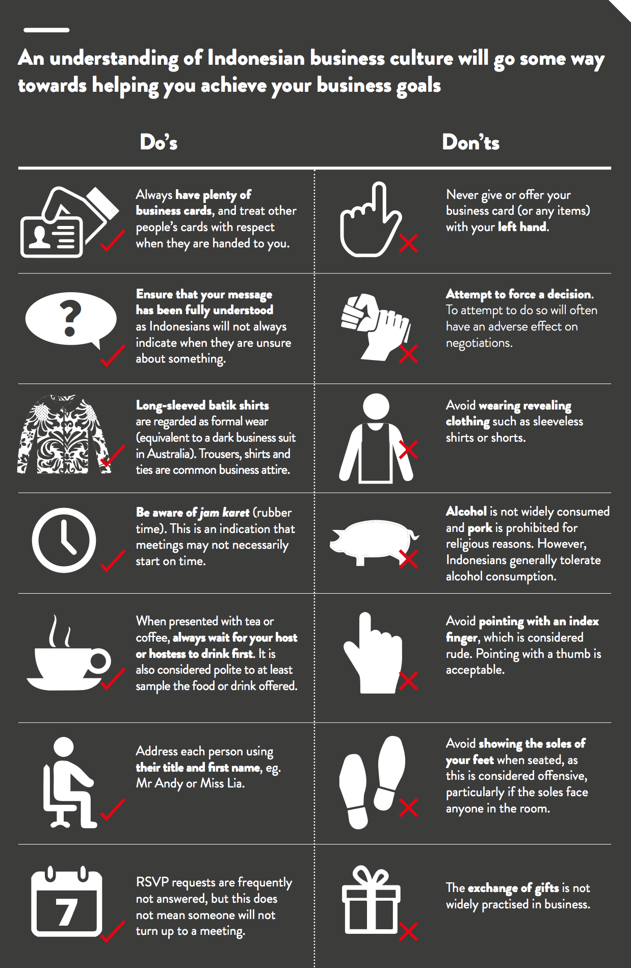 Indonesian Business Etiquette